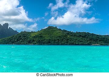 bora bora tropical beach