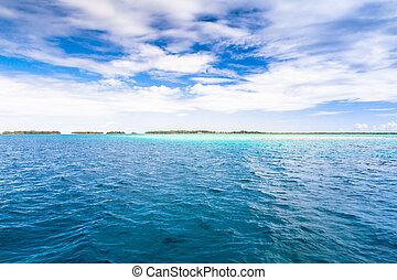 bora, polynesia., francese, isola