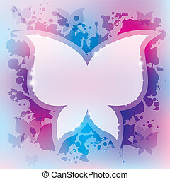borboleta, abstratos, fundo