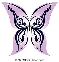 borboleta, abstratos