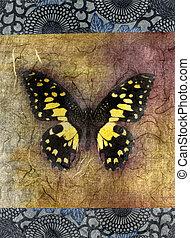 borboleta, amarela