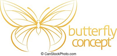 borboleta, conceito abstrato