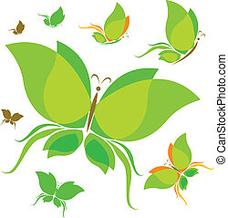 borboleta, concep, ecologia, desenho