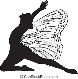 borboleta, dançarino