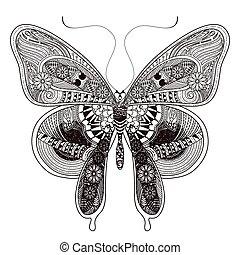 borboleta, deslumbrante