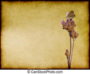 borboleta, flor