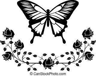 borboleta, flourishes