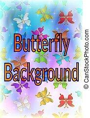 borboleta, fundo