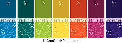 borboleta, jogo, format., luminoso, vetorial, bandeira