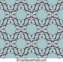 borboleta, padrão, fundo