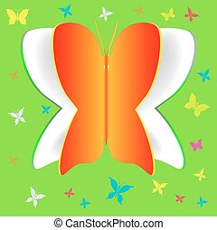 borboleta, papel