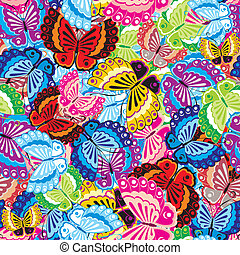 borboleta, seamless, fundo