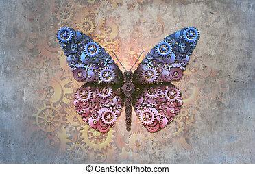 borboleta, steampunk