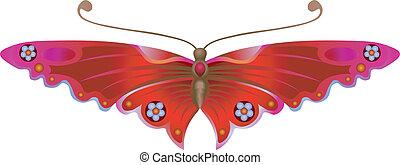 borboleta, stylised
