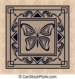 borboleta, tatuagem, desenho, animal