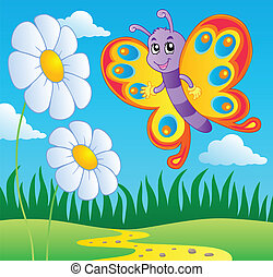 borboleta, tema, 2, imagem