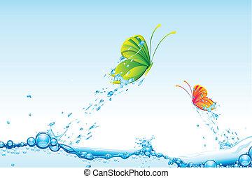 borboleta, voando