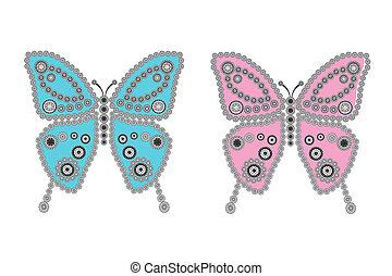 borboletas, colorido