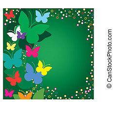 borboletas, experiência verde