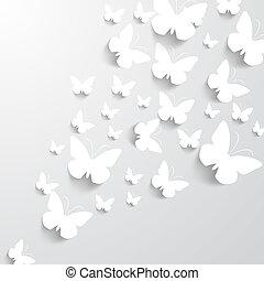 borboletas, fundo