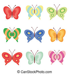 borboletas, jogo, branca