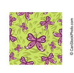 borboletas, seamless, fundo
