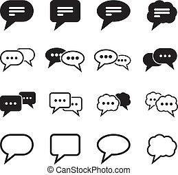 borbulho fala, ícone