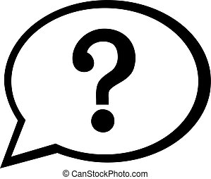 borbulho fala, ícone, com, marca pergunta