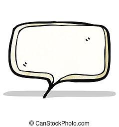 borbulho fala, caricatura