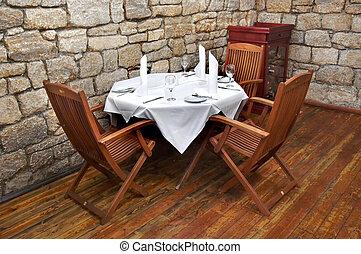 bord, 2, restaurang