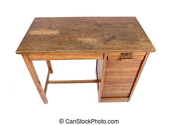 bord, arbete, gammal