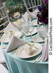bord, bröllop, preferenser