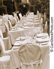 bord, bröllop