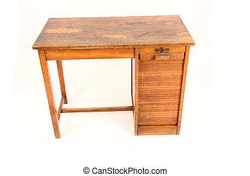 bord, gammal, arbete