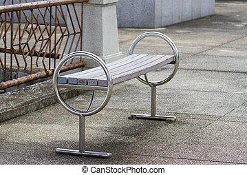 bord, länge, sätta parken