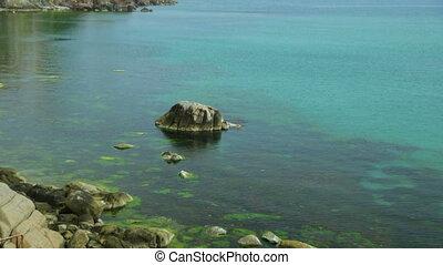 bord mer, été, vue