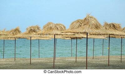 bord mer, été, vue, plage