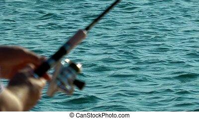 bord mer, pêcheur