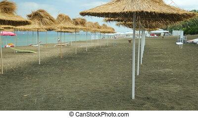 bord mer, plage, été, vue