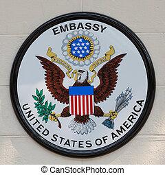bord, påstår, enigt, amerika, ambassad