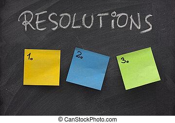 bord, resolutions, lijst, leeg