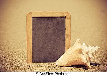 bord, strand, leeg