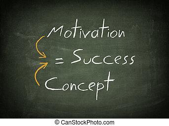 bord, succes, concept