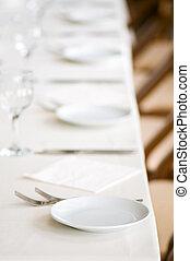 bord, tjänat, restaraunt