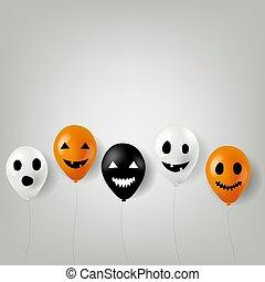 borda, balões halloween