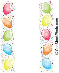 borda, com, balões
