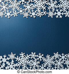 borda, de, natal, snowflakes