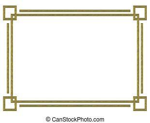 borda, desenho, ouro