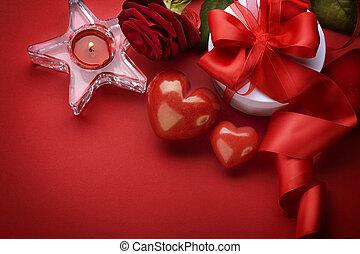 borda, desenho, valentine