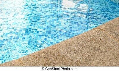 borda, piscina, natação